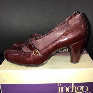 Clark's Burgundy Patent Leather Heels
